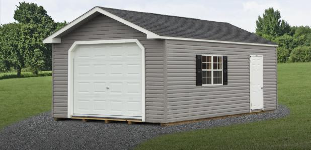 One-Car Garages (in Peak and Dutch styles) from Pine Creek Structures