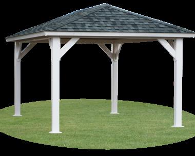 10x12 vinyl hip roof pavilion