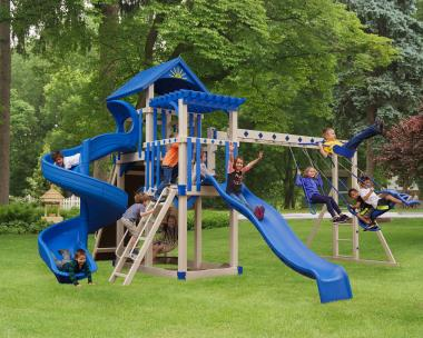 Swing sets, Play sets, Slides